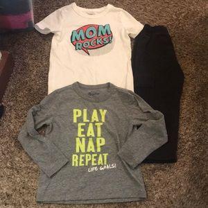 Toddler Boy Pants and 2 Shirts